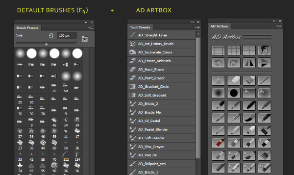 AD Artbox Brushes and tools