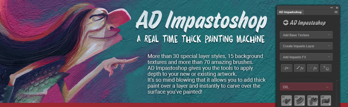 Alex Dukal Impastoshop Thick Painting for Photoshop