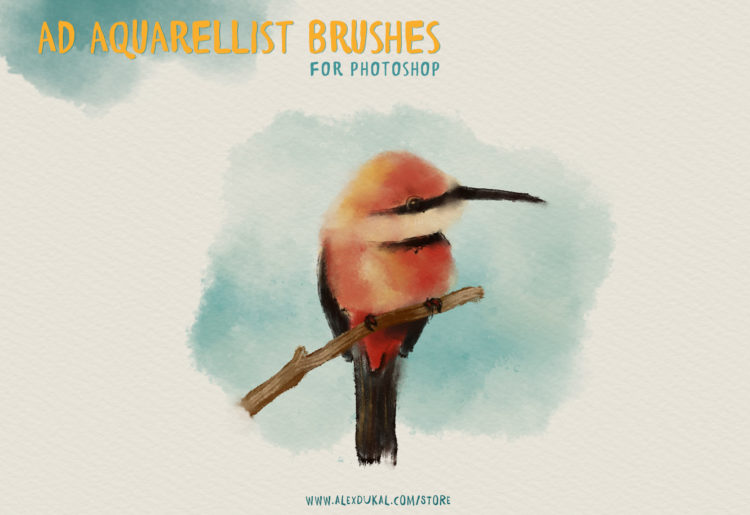 AD Aquarellist Brushes for Photoshop