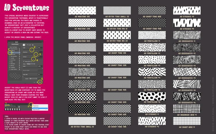 AD Screentones - Reference Sheet