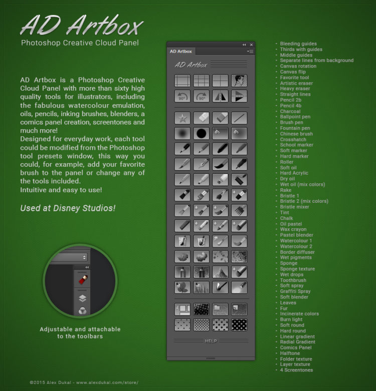 AD Artbox - Photoshop tools for illustrators