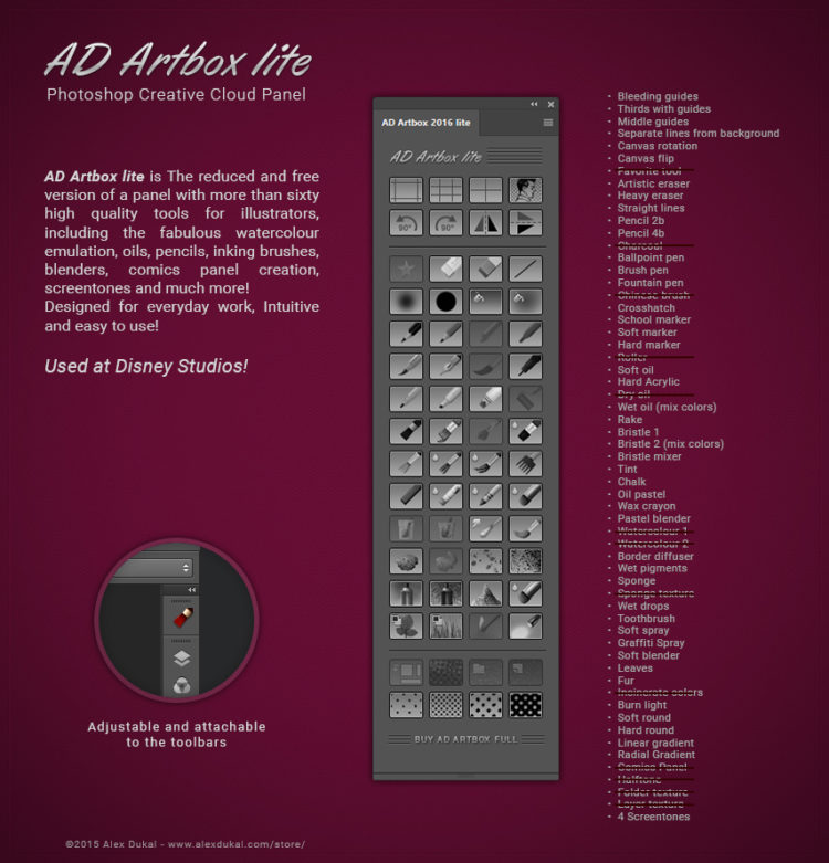 AD Artbox lite - Photoshop tools for Illustrators