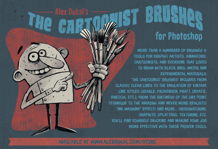 The Cartoonist Brushes - Inking Tools for Photoshop