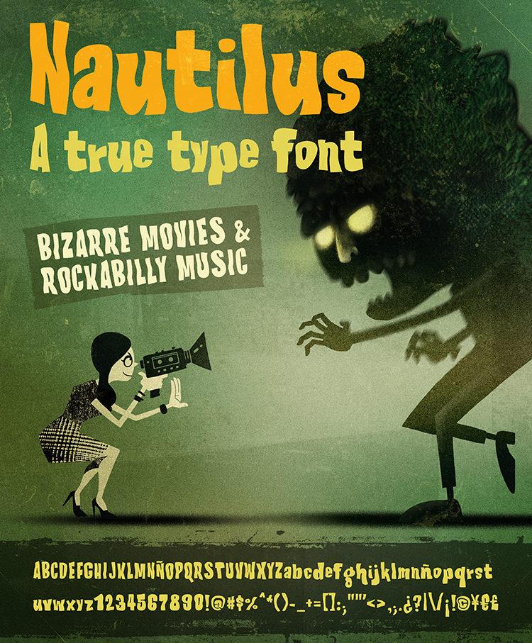 AD Nautilus Type - Cinematic Font
