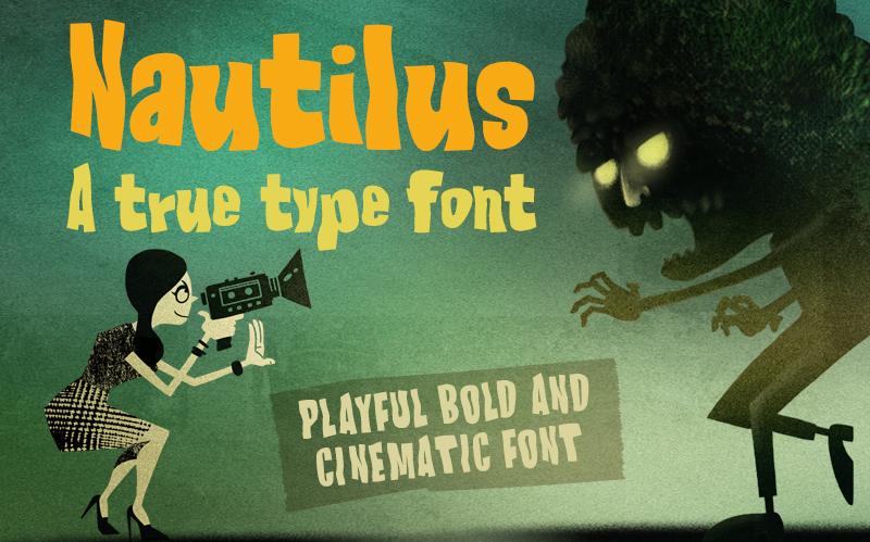 AD Nautilus - True Type Cinematic Font