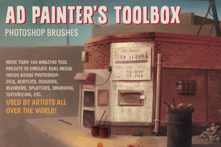 AD Painters Toolbox - Photoshop natural media brushes