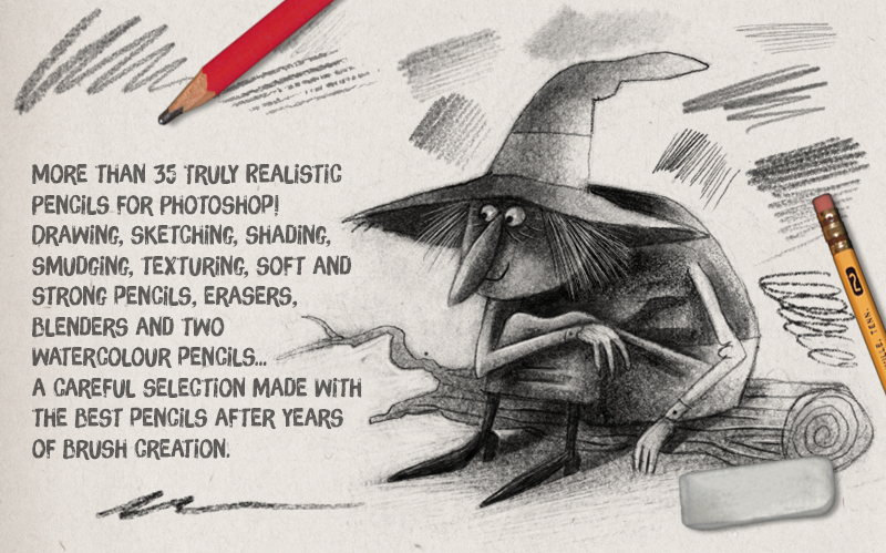 AD Pencils Garden - Most realistic digital pencils for Photoshop