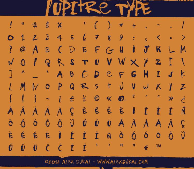 AD Pupitre Type