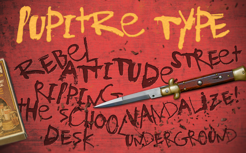 AD Pupitre Type - A casual and grunge font