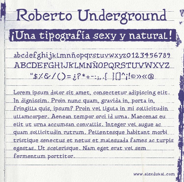 AD Roberto Underground - A Comics Font Type