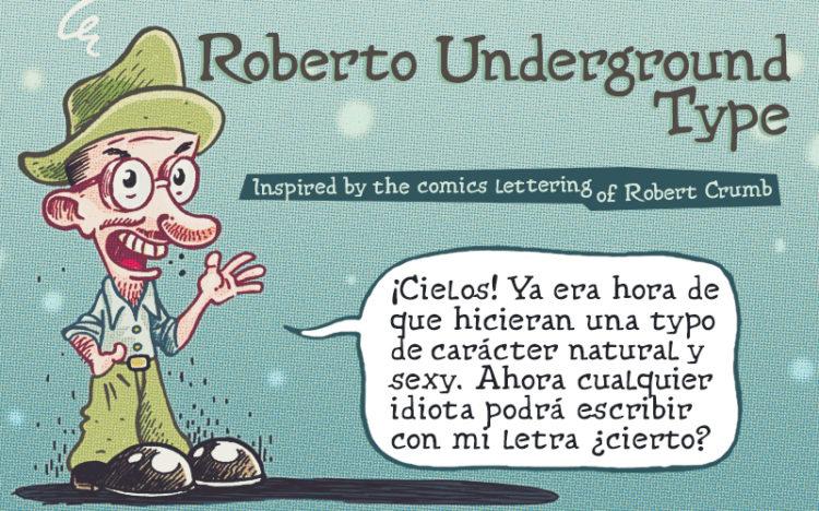 AD Roberto Underground - Comics lettering font