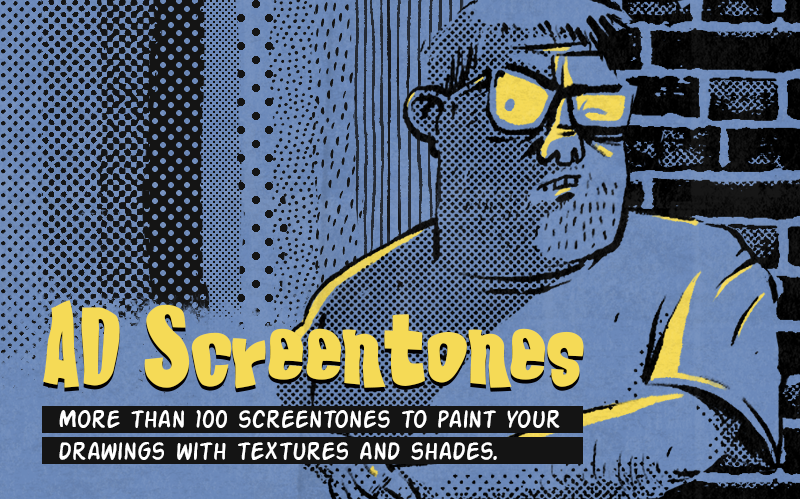 AD Screentones for Photoshop