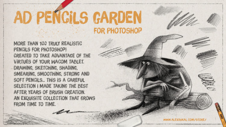 AD Pencils Garden for Photoshop