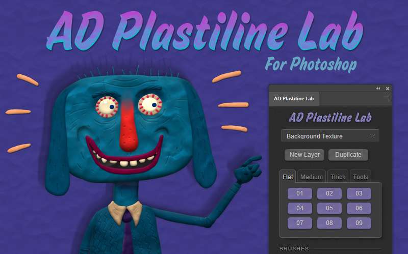 AD Plastiline Lab for Photoshop