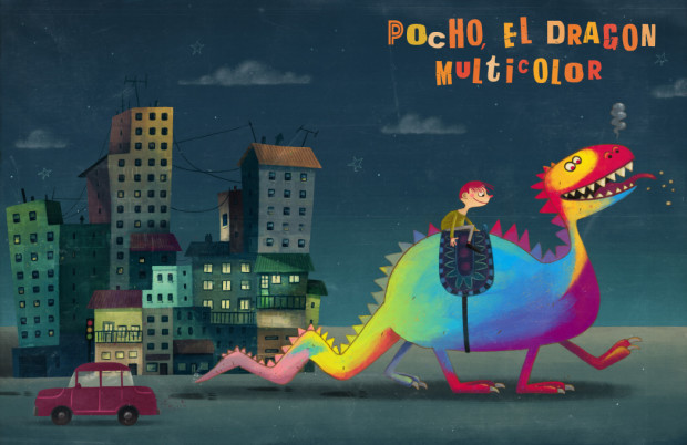 Alex Dukal - Pocho el dragon multicolor
